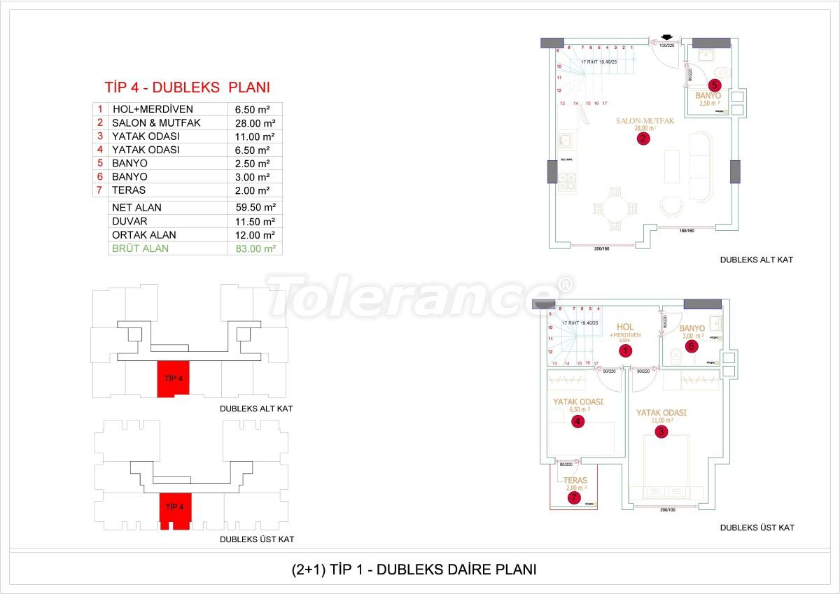 Недорогие и уютные апартаменты в новом комплексе в Алании, Оба - 33727   Tolerance Homes