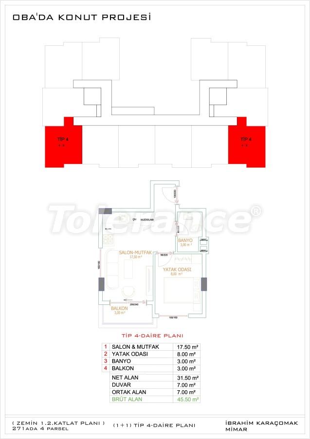 Недорогие и уютные апартаменты в новом комплексе в Алании, Оба - 33720   Tolerance Homes