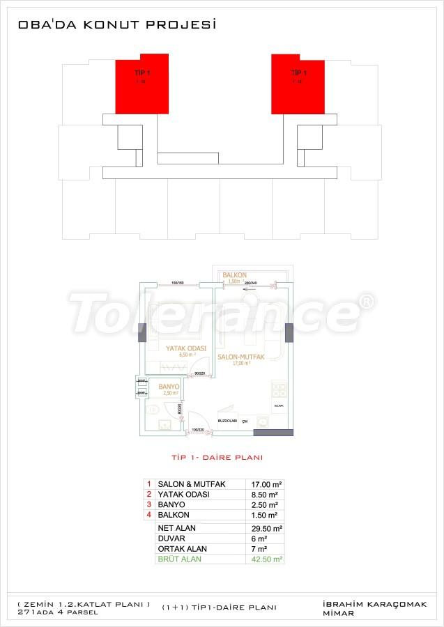 Недорогие и уютные апартаменты в новом комплексе в Алании, Оба - 33717   Tolerance Homes