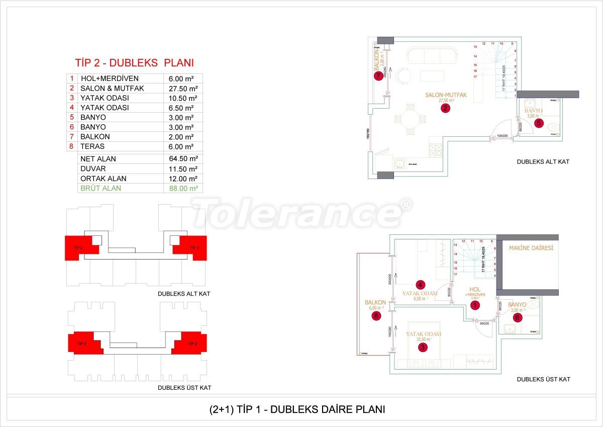Недорогие и уютные апартаменты в новом комплексе в Алании, Оба - 33725   Tolerance Homes