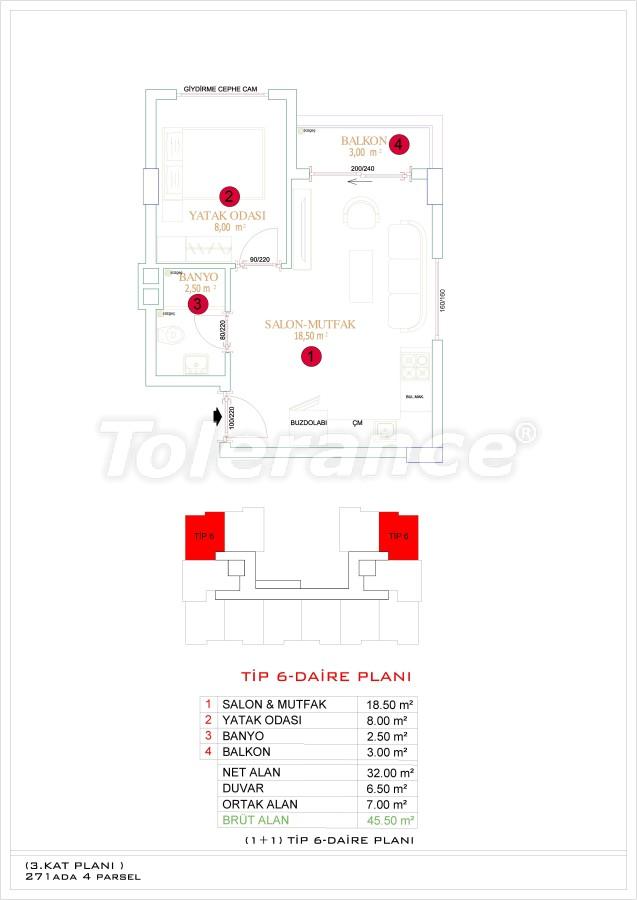 Недорогие и уютные апартаменты в новом комплексе в Алании, Оба - 33722   Tolerance Homes