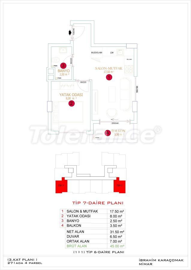 Недорогие и уютные апартаменты в новом комплексе в Алании, Оба - 33723   Tolerance Homes