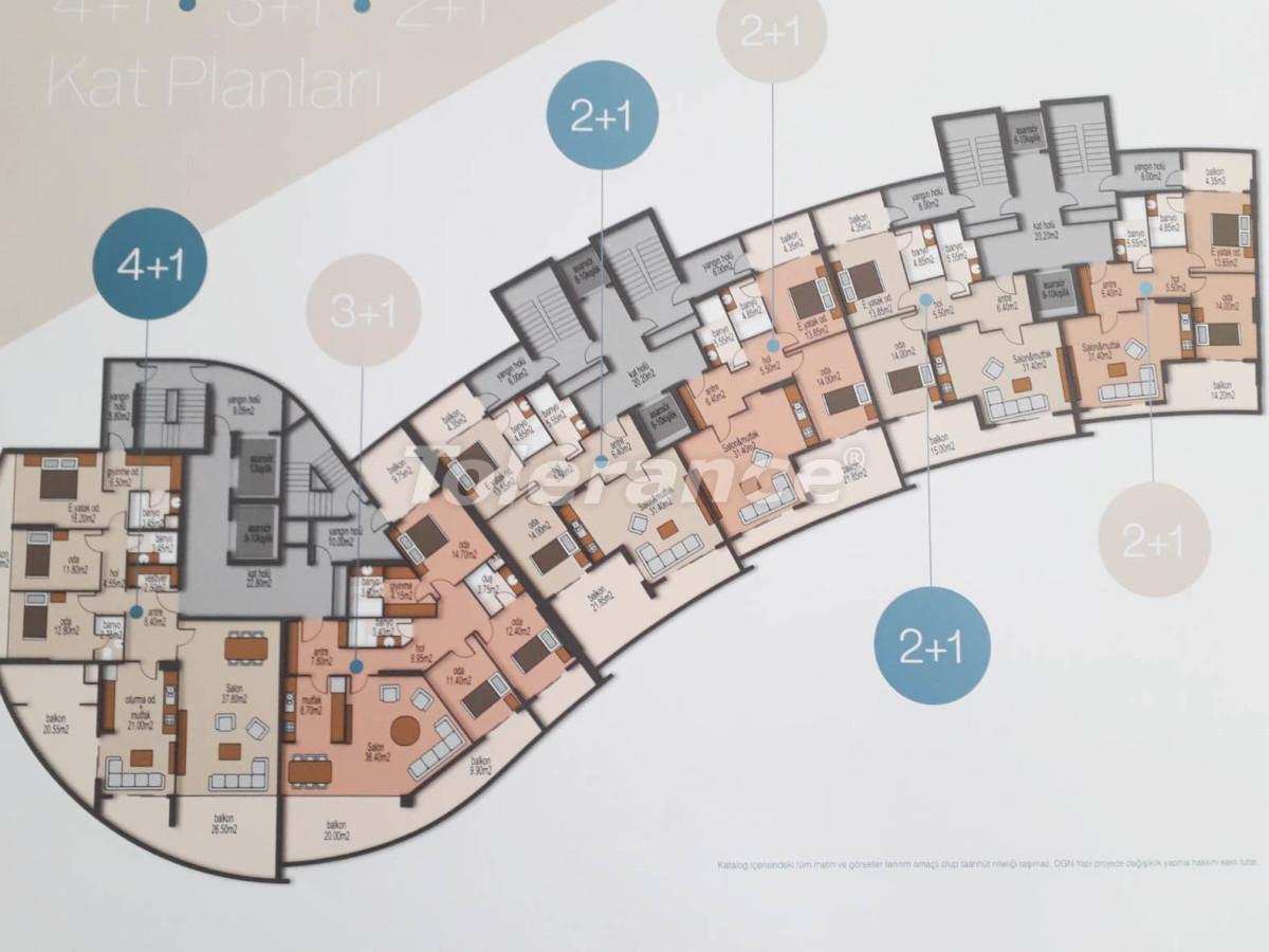 Просторные квартиры в Мезитли, Мерсине от застройщика, с видом на море - 33956 | Tolerance Homes
