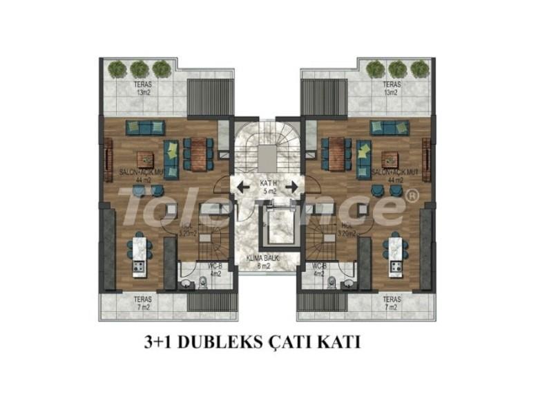 Четырехкомнатная квартира в Хурме, Коньяалты в комплексе с открытым и закрытым бассейнами - 34153 | Tolerance Homes