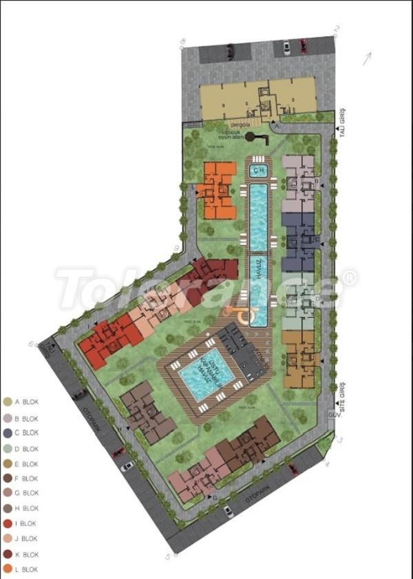 Четырехкомнатная квартира в Хурме, Коньяалты в комплексе с открытым и закрытым бассейнами - 34154 | Tolerance Homes