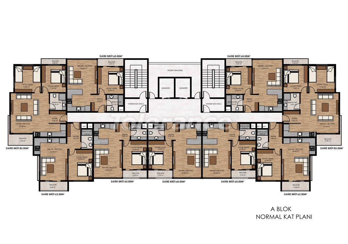 Квартиры в Тедже, Мерсине рядом с морем и рассрочкой от застройщика - 34326 | Tolerance Homes