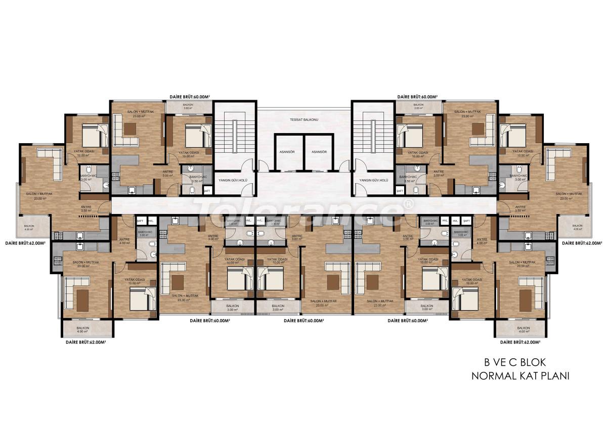 Квартиры в Тедже, Мерсине рядом с морем и рассрочкой от застройщика - 34328 | Tolerance Homes