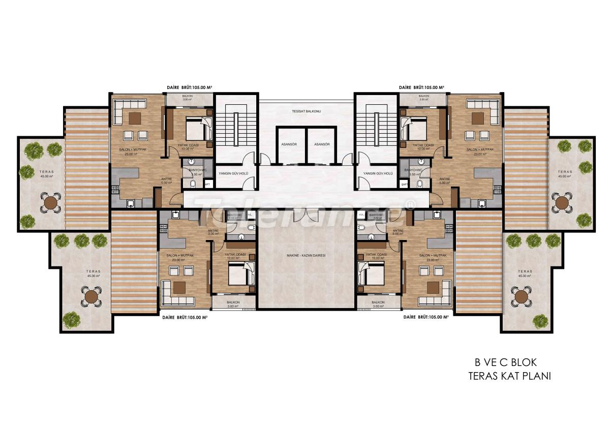Квартиры в Тедже, Мерсине рядом с морем и рассрочкой от застройщика - 34327 | Tolerance Homes