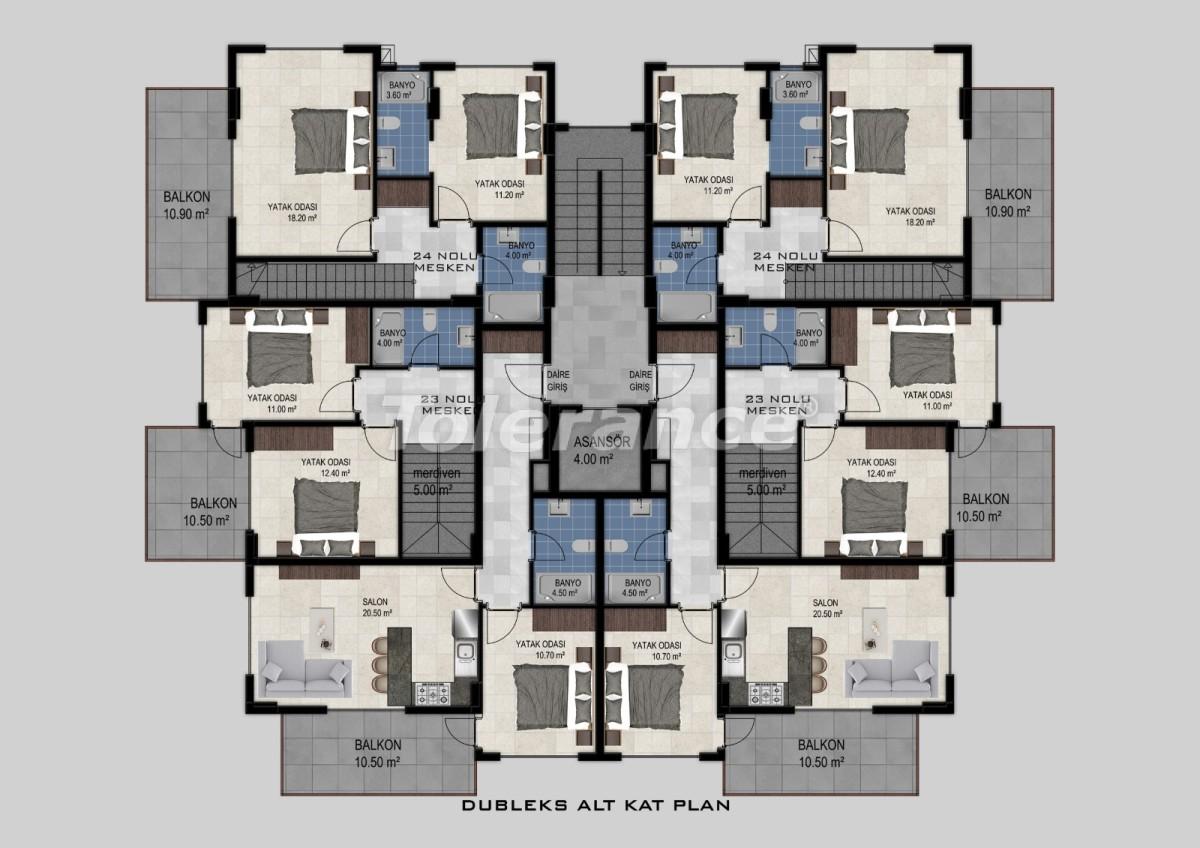 Квартиры в Авсалларе, Алания от застройщика - 34472   Tolerance Homes