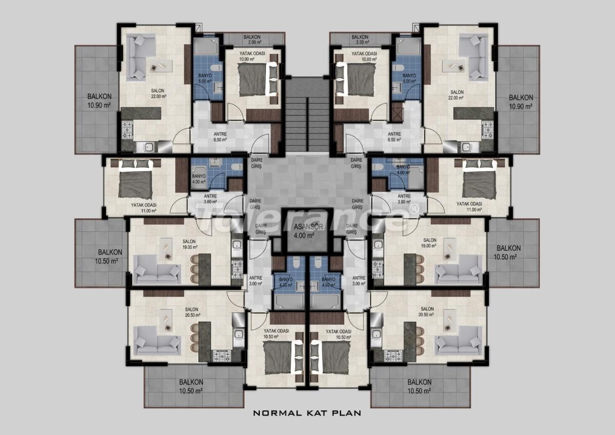 Квартиры в Авсалларе, Алания от застройщика - 34473   Tolerance Homes