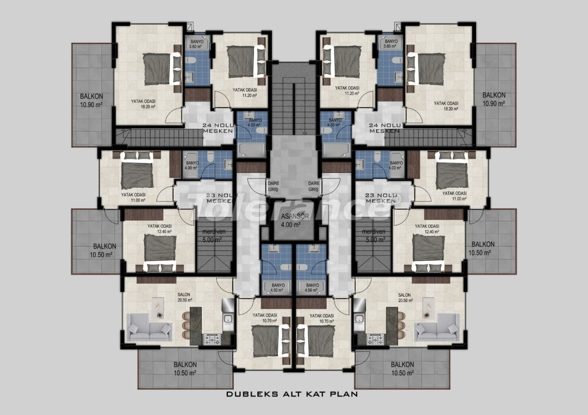 Квартиры в Авсалларе, Алания от застройщика - 34471   Tolerance Homes