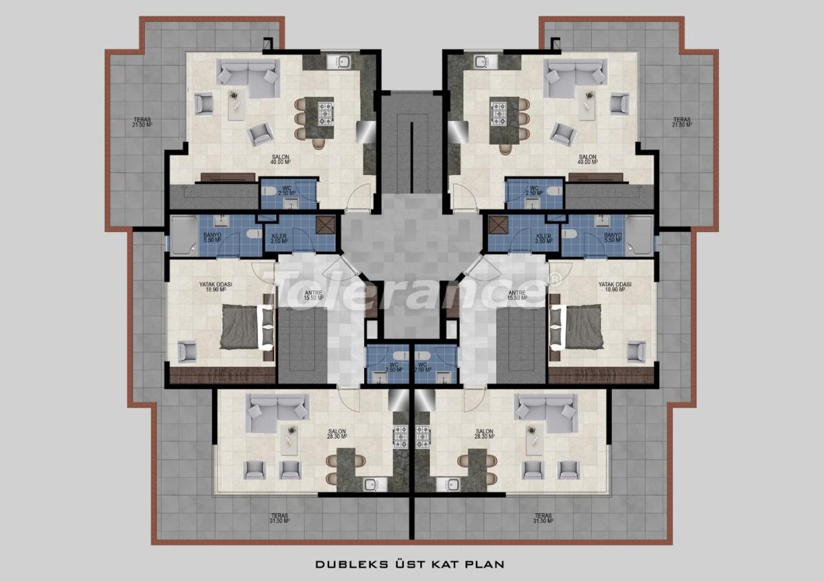 Квартиры в Авсалларе, Алания от застройщика - 34475   Tolerance Homes