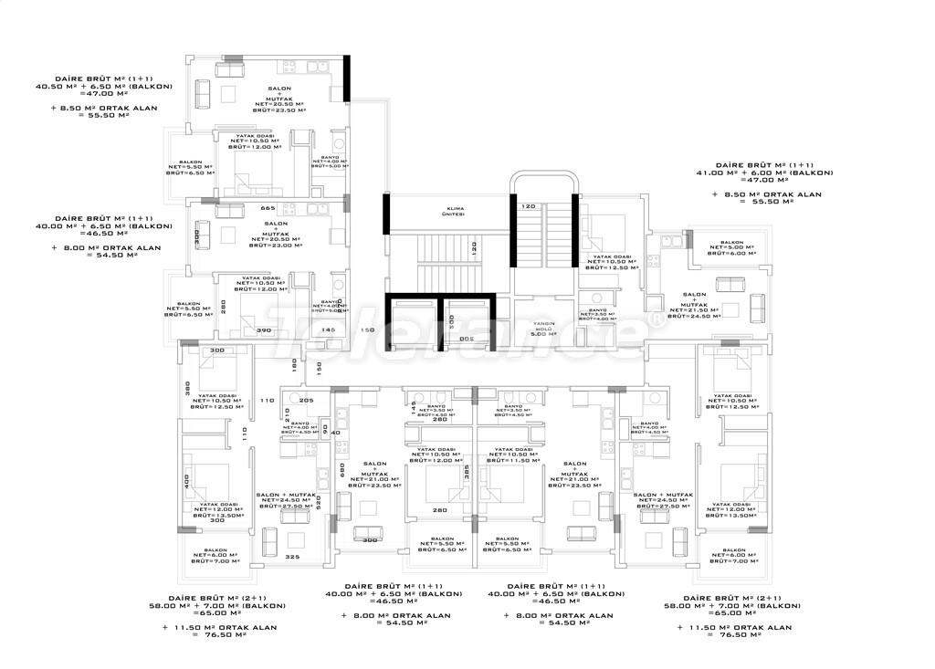 Апартаменты в Авсалларе, Алания от застройщика в комплексе с бассейном - 34531 | Tolerance Homes
