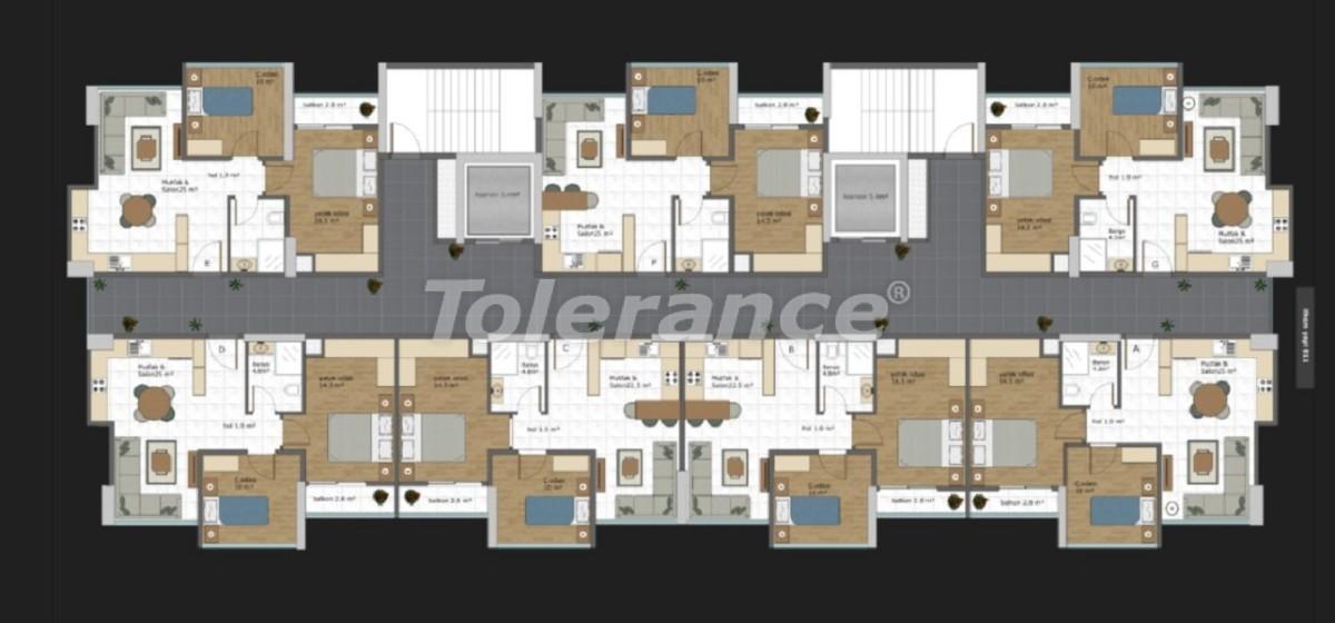 Квартиры современного дизайна в Мезитли, Мерсине в рассрочку от застройщика - 35784   Tolerance Homes
