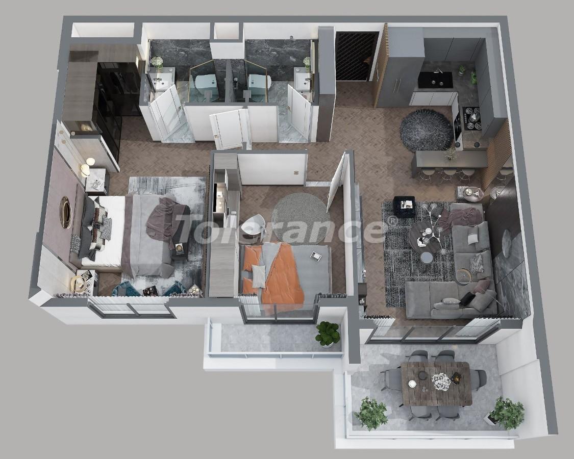 Квартиры в Тедже, Мерсине в комплексе с инфраструктурой и рассрочкой от застройщика - 35831 | Tolerance Homes