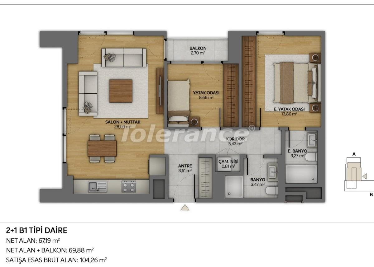 Современные квартиры в Топкапы, Стамбул с рассрочкой от застройщика - 35879 | Tolerance Homes