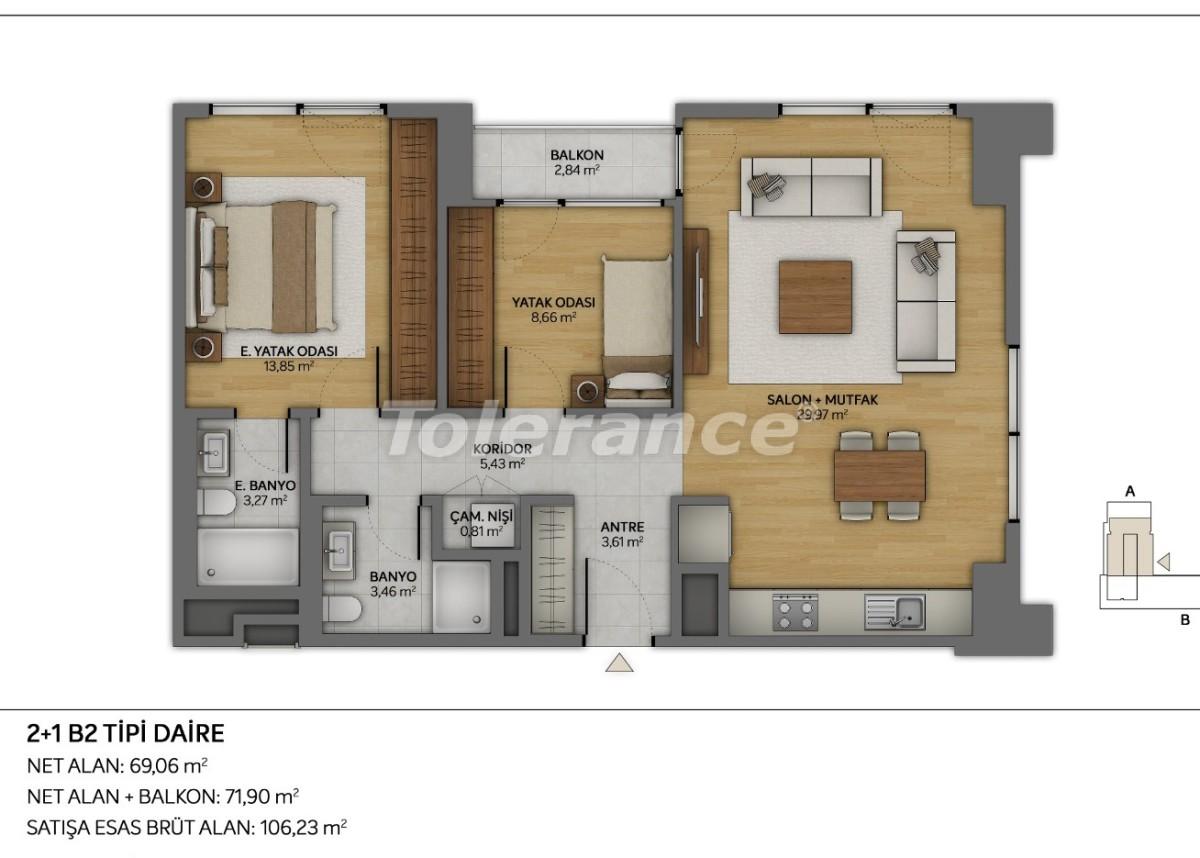 Современные квартиры в Топкапы, Стамбул с рассрочкой от застройщика - 35876 | Tolerance Homes
