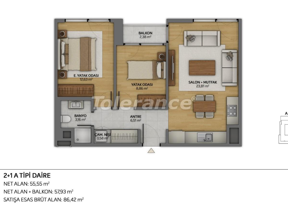Современные квартиры в Топкапы, Стамбул с рассрочкой от застройщика - 35881 | Tolerance Homes
