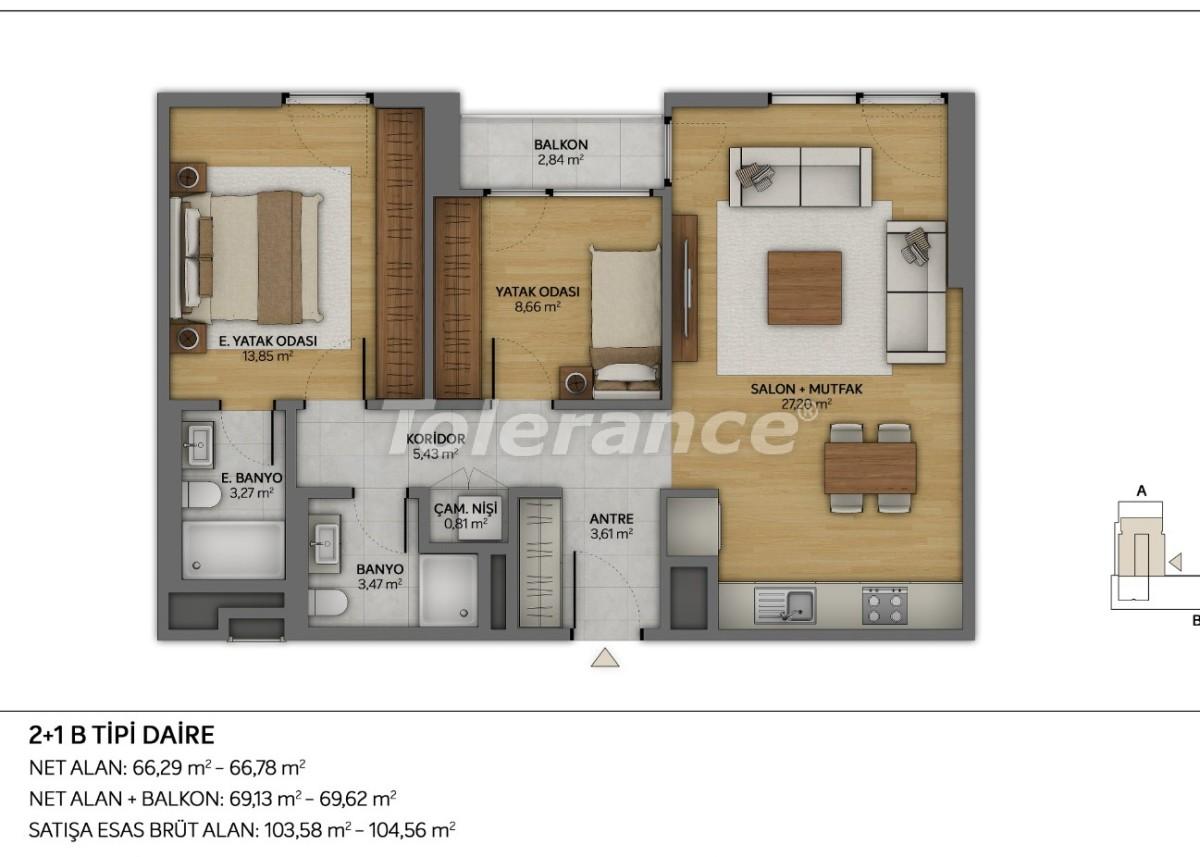 Современные квартиры в Топкапы, Стамбул с рассрочкой от застройщика - 35882 | Tolerance Homes
