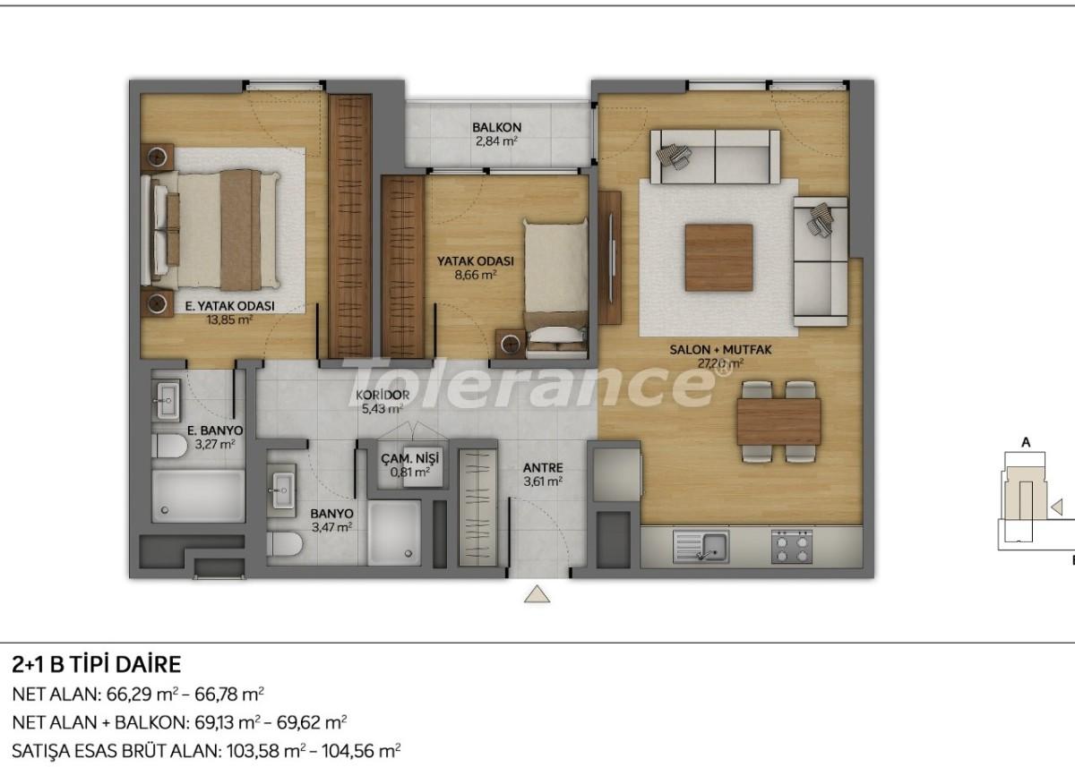 Современные квартиры в Топкапы, Стамбул с рассрочкой от застройщика - 35878 | Tolerance Homes