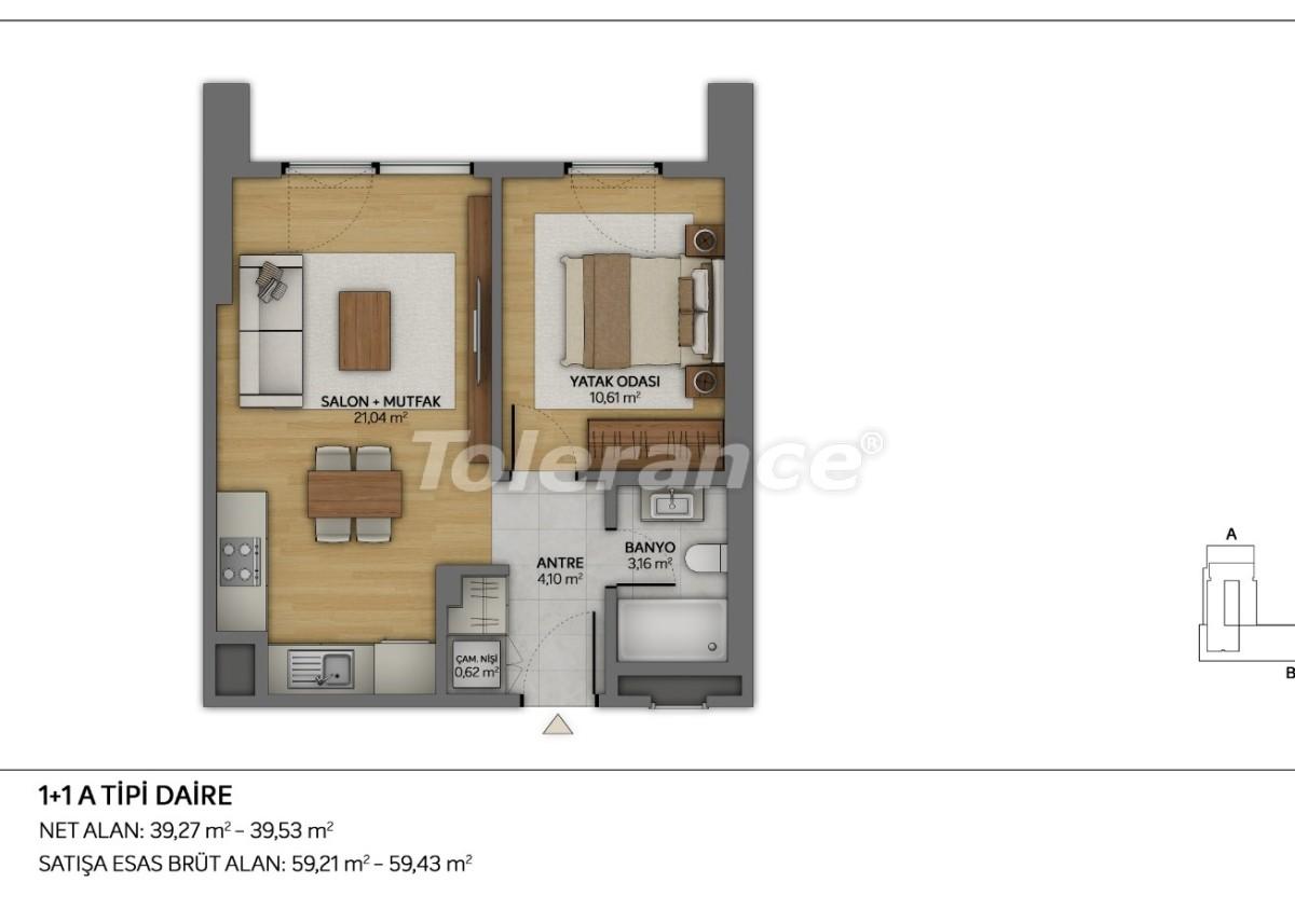 Современные квартиры в Топкапы, Стамбул с рассрочкой от застройщика - 35877 | Tolerance Homes