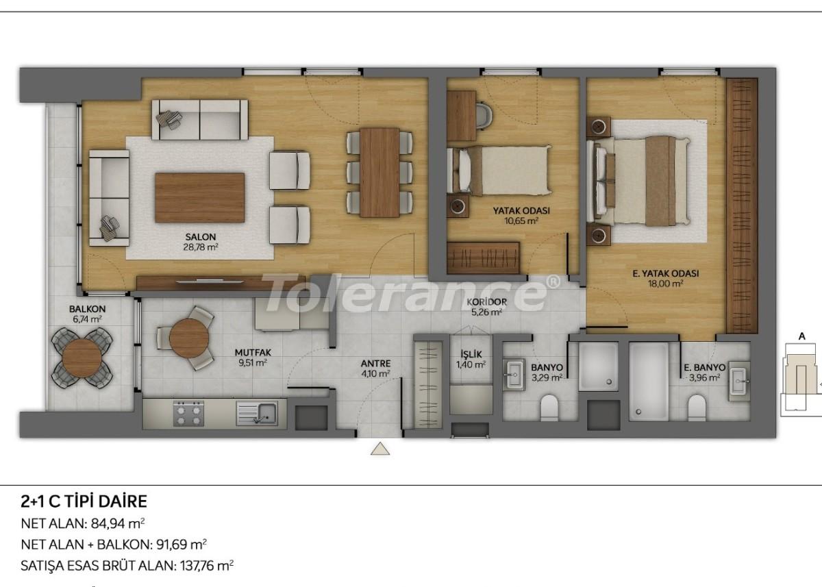 Современные квартиры в Топкапы, Стамбул с рассрочкой от застройщика - 35883 | Tolerance Homes