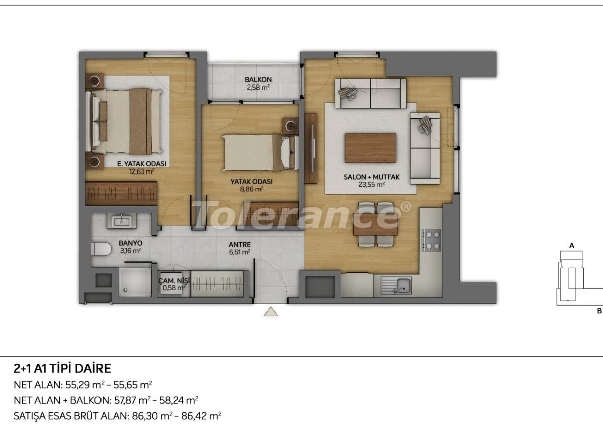 Современные квартиры в Топкапы, Стамбул с рассрочкой от застройщика - 35880 | Tolerance Homes