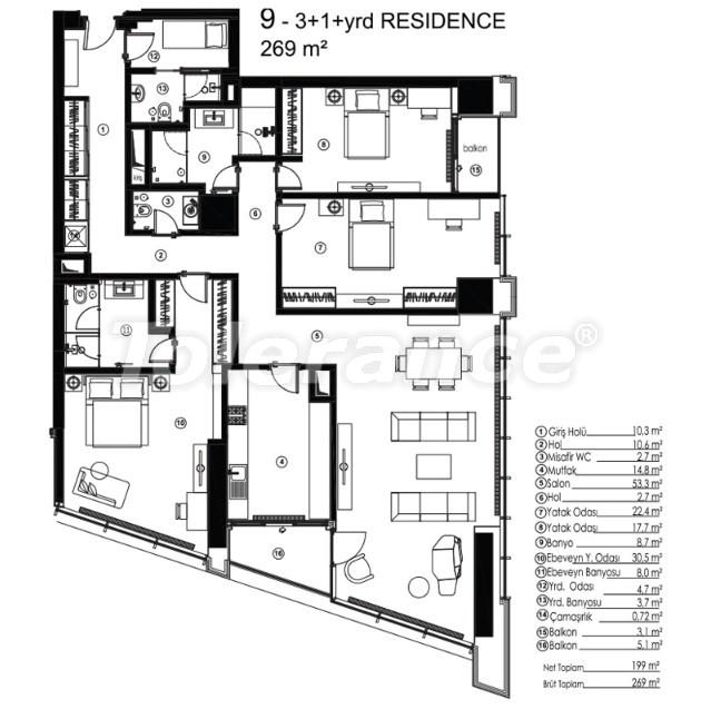 Современные квартиры в Сарыер, Стамбул с возможностью получения гражданства - 36081   Tolerance Homes