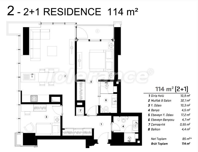 Современные квартиры в Сарыер, Стамбул с возможностью получения гражданства - 36078   Tolerance Homes