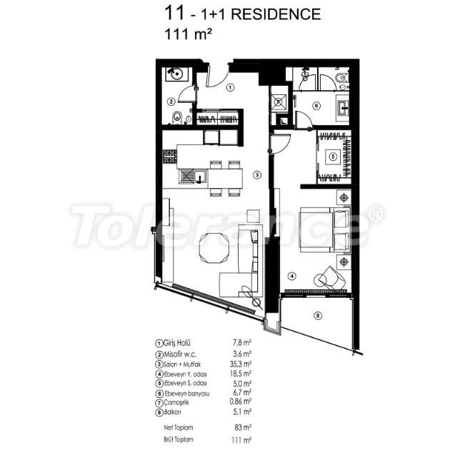 Современные квартиры в Сарыер, Стамбул с возможностью получения гражданства - 36077   Tolerance Homes