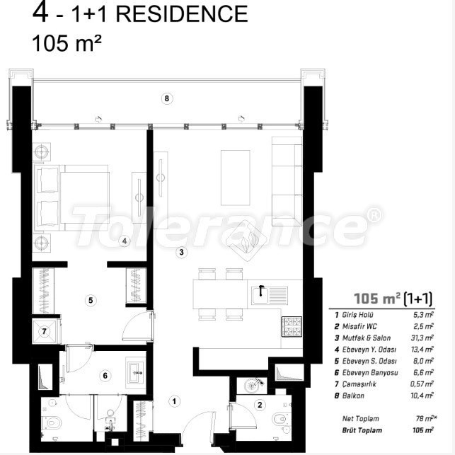Современные квартиры в Сарыер, Стамбул с возможностью получения гражданства - 36076   Tolerance Homes