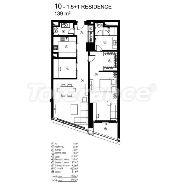 Современные квартиры в Сарыер, Стамбул с возможностью получения гражданства - 36073   Tolerance Homes