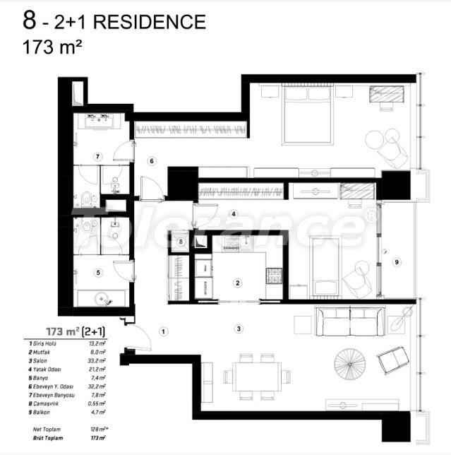 Современные квартиры в Сарыер, Стамбул с возможностью получения гражданства - 36080   Tolerance Homes