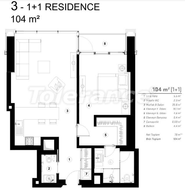 Современные квартиры в Сарыер, Стамбул с возможностью получения гражданства - 36074   Tolerance Homes