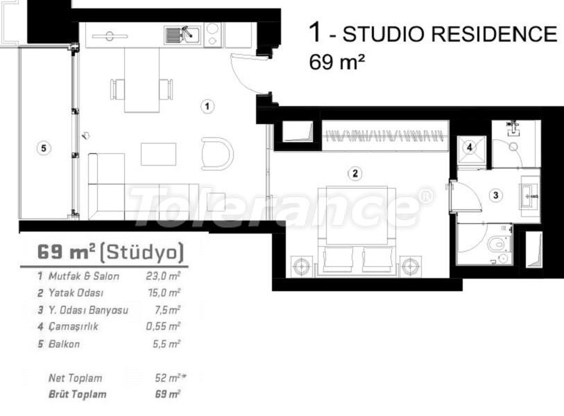 Современные квартиры в Сарыер, Стамбул с возможностью получения гражданства - 36082   Tolerance Homes