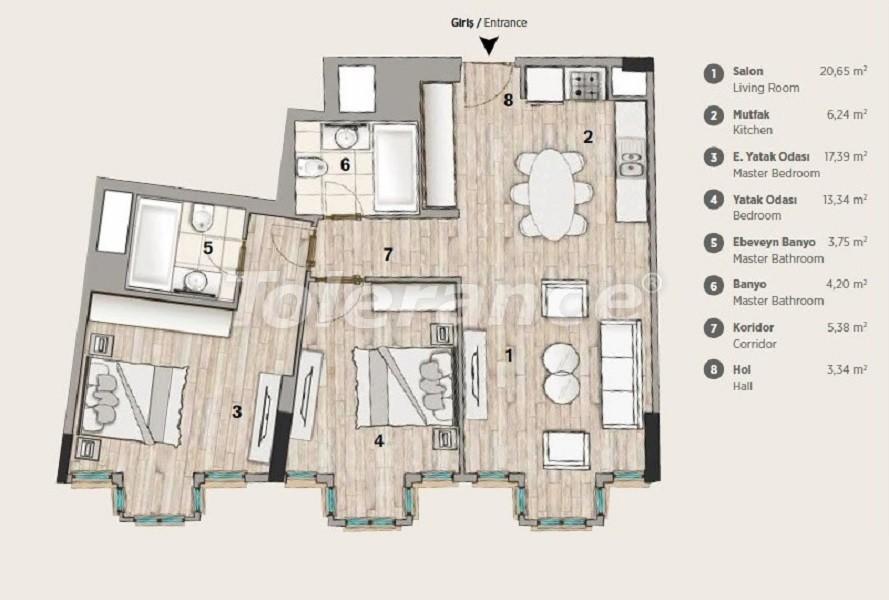 Квартиры современного дизайна в самом престижном районе Стамбула в рассрочку от застройщика - 36068 | Tolerance Homes