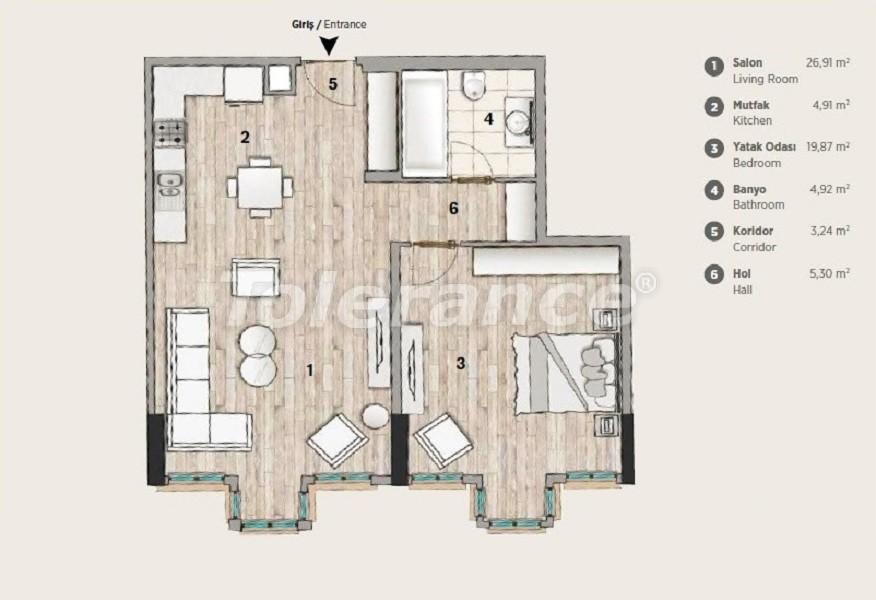 Квартиры современного дизайна в самом престижном районе Стамбула в рассрочку от застройщика - 36069 | Tolerance Homes