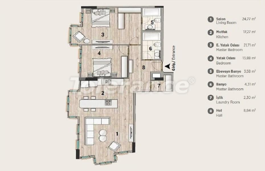 Квартиры современного дизайна в самом престижном районе Стамбула в рассрочку от застройщика - 36071 | Tolerance Homes
