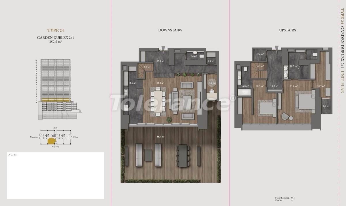Роскошные квартиры и пентхаусы в самом престижном районе Стамбула - 36154 | Tolerance Homes