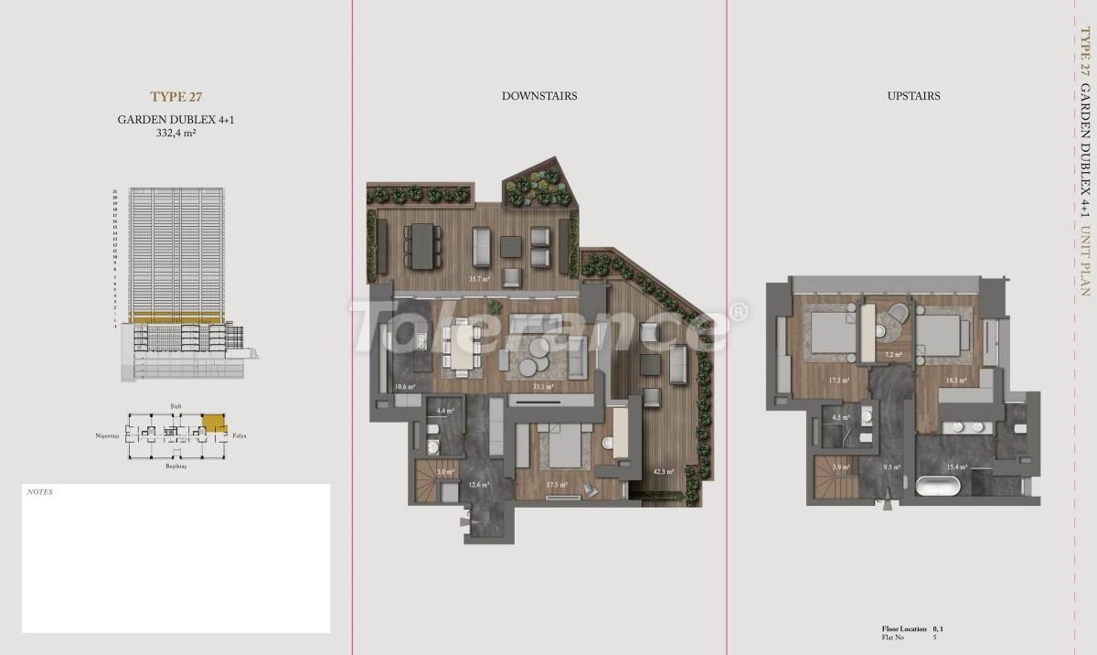 Роскошные квартиры и пентхаусы в самом престижном районе Стамбула - 36155 | Tolerance Homes
