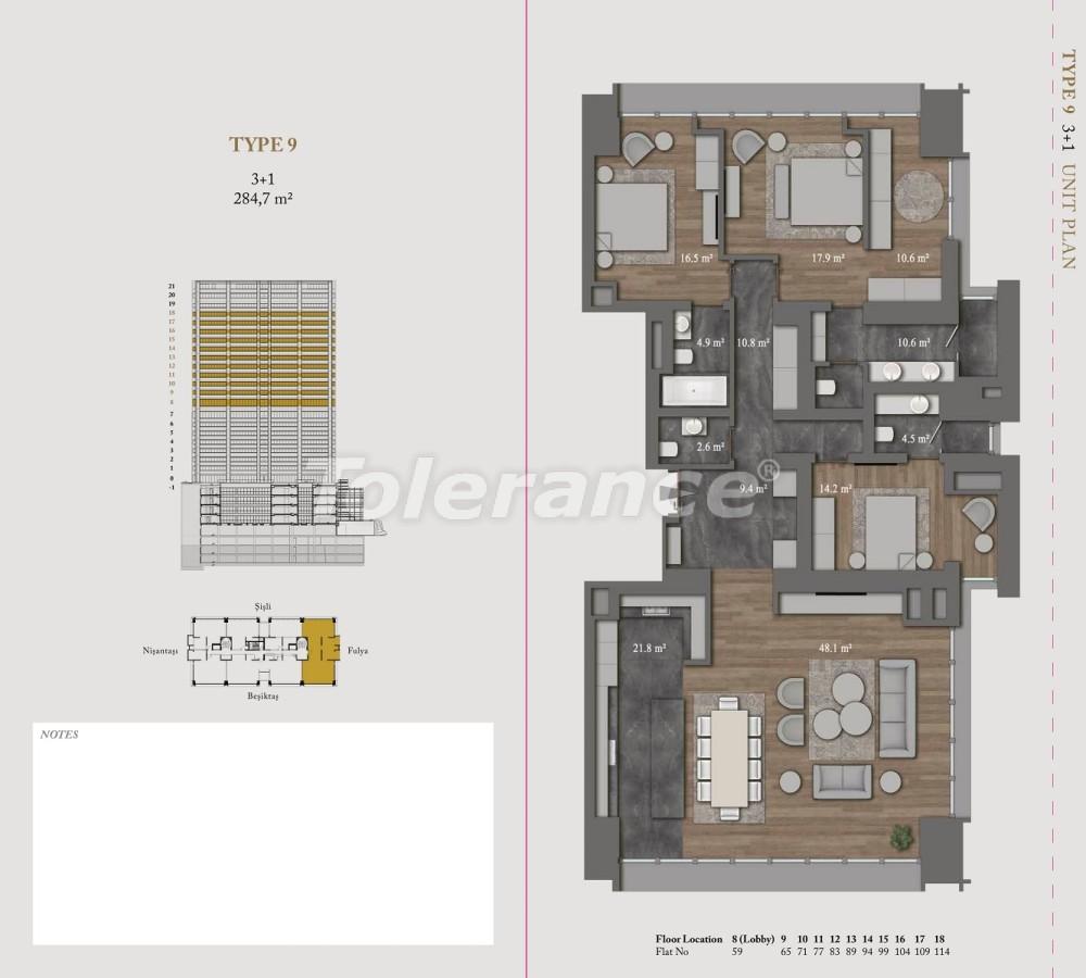 Роскошные квартиры и пентхаусы в самом престижном районе Стамбула - 36150 | Tolerance Homes