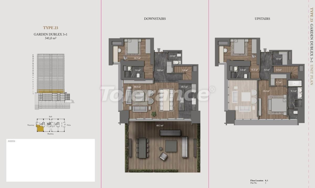 Роскошные квартиры и пентхаусы в самом престижном районе Стамбула - 36153 | Tolerance Homes