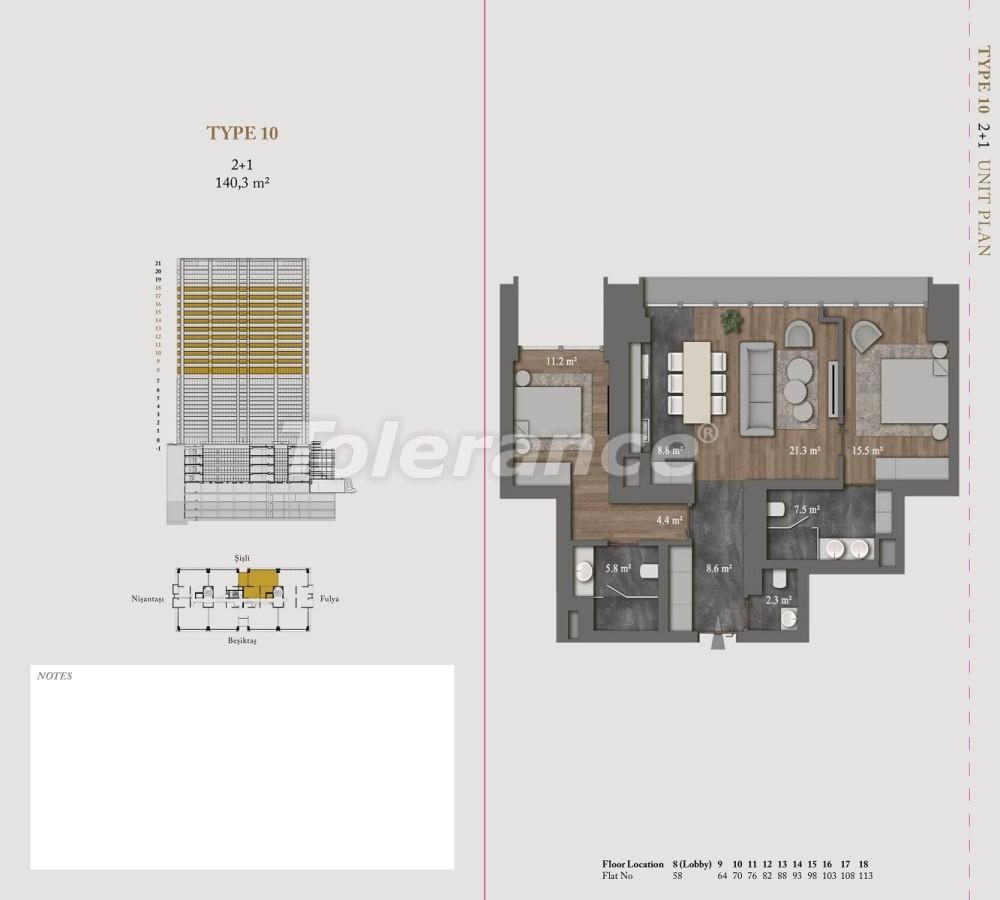 Роскошные квартиры и пентхаусы в самом престижном районе Стамбула - 36151 | Tolerance Homes