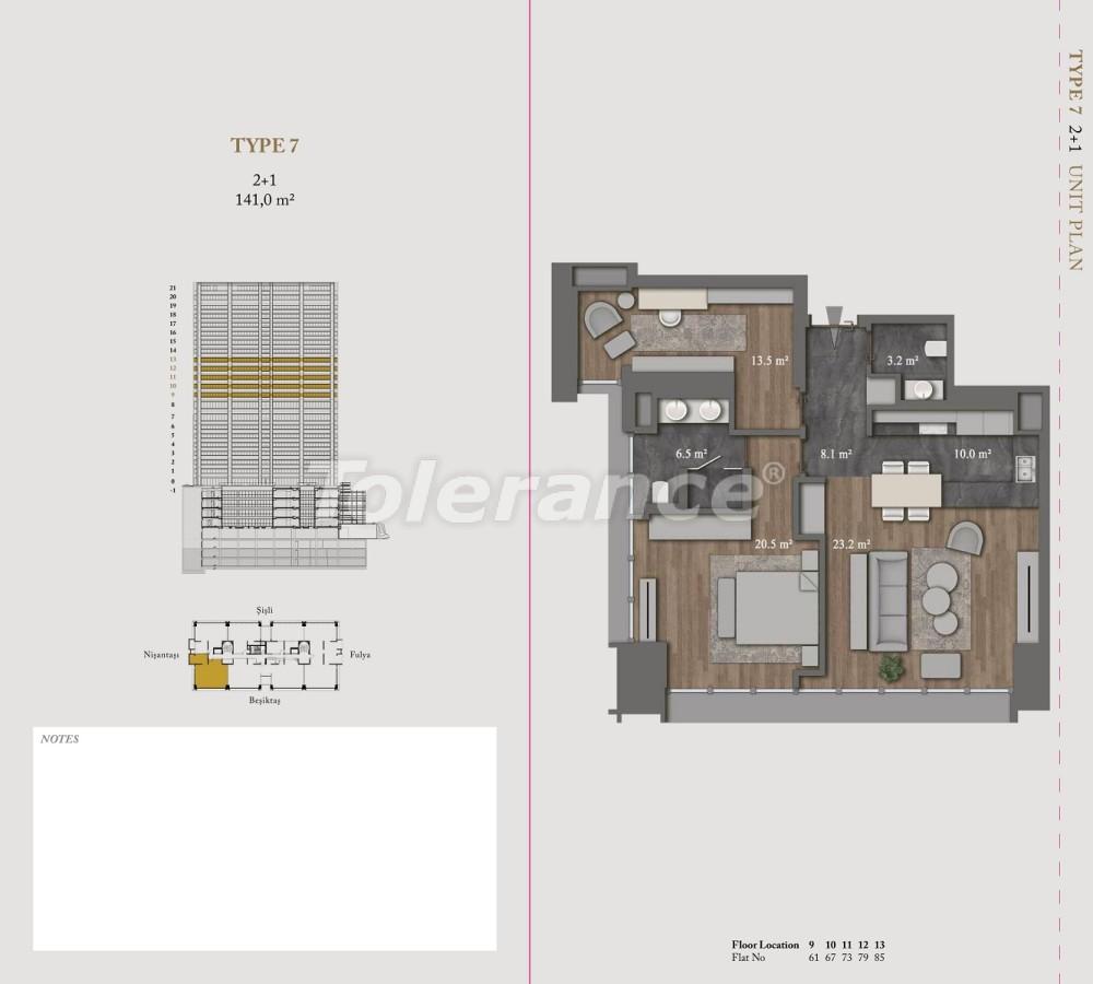 Роскошные квартиры и пентхаусы в самом престижном районе Стамбула - 36149 | Tolerance Homes