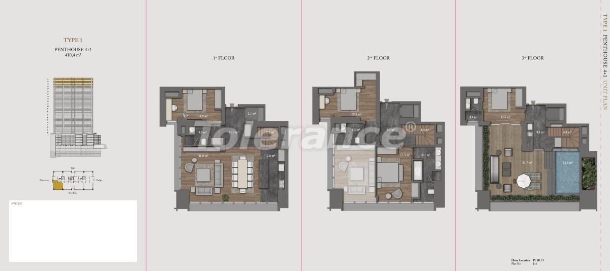 Роскошные квартиры и пентхаусы в самом престижном районе Стамбула - 36145 | Tolerance Homes
