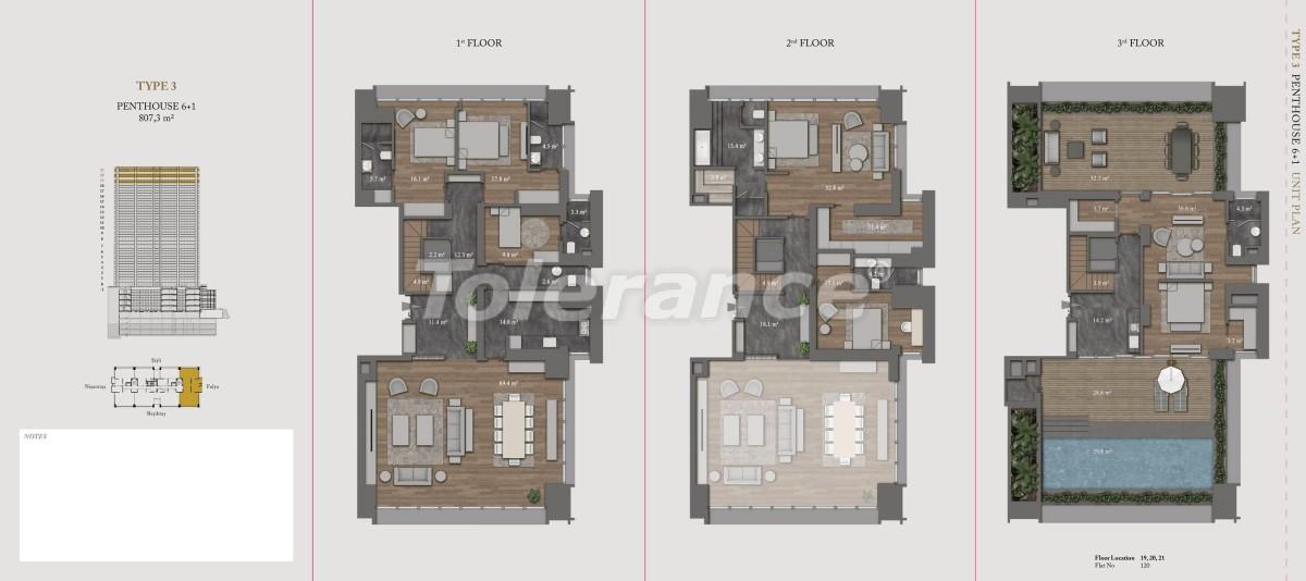 Роскошные квартиры и пентхаусы в самом престижном районе Стамбула - 36147 | Tolerance Homes
