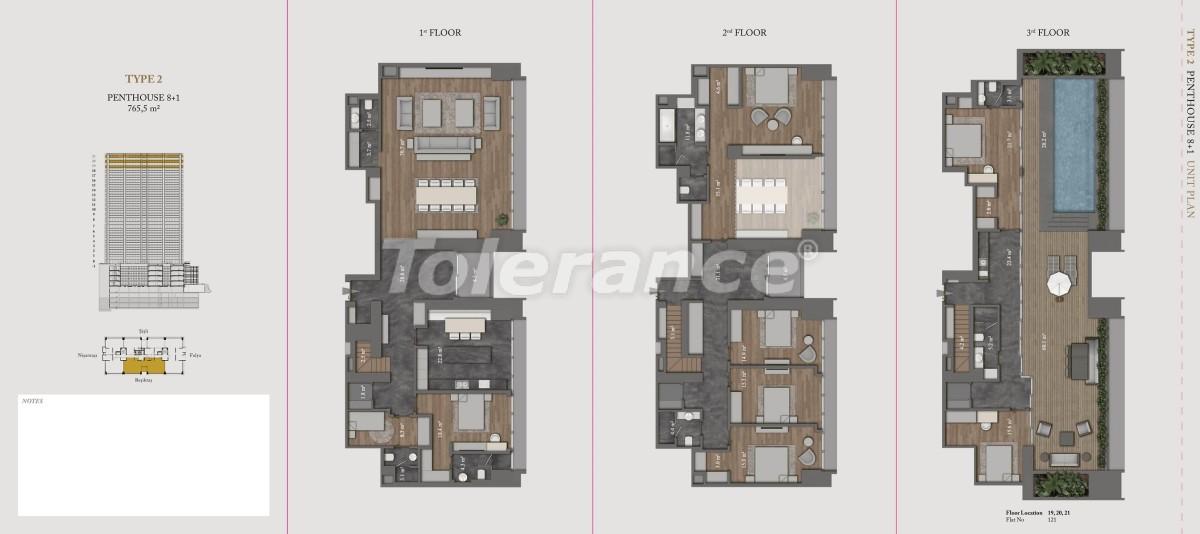 Роскошные квартиры и пентхаусы в самом престижном районе Стамбула - 36146 | Tolerance Homes