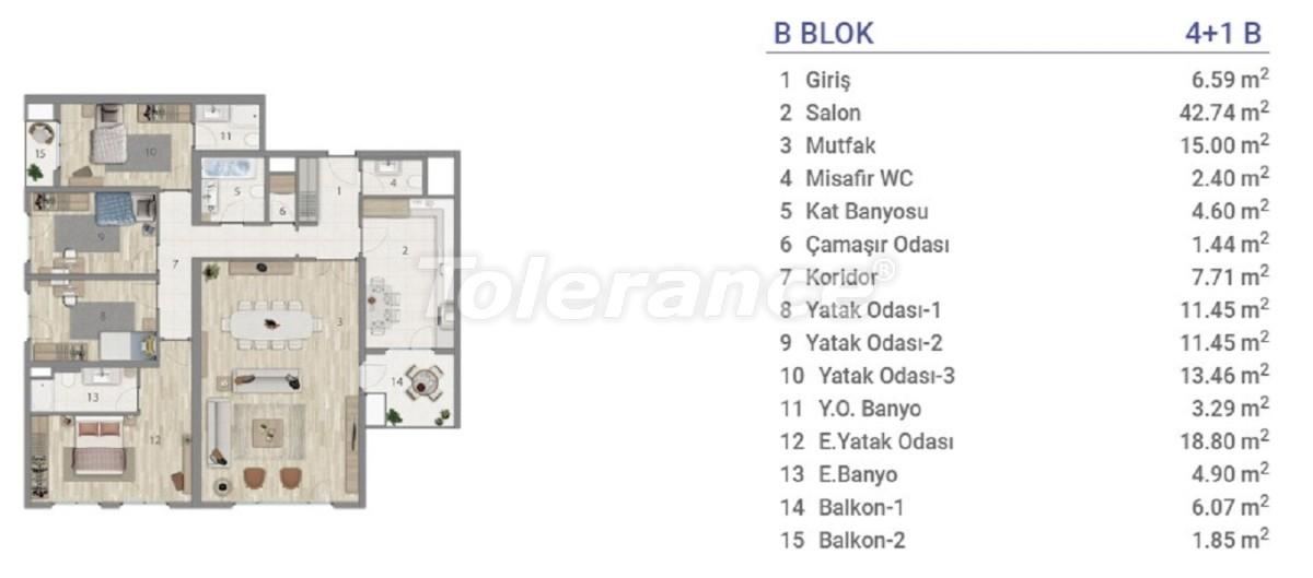 Квартиры в Эюпсултан, Стамбул в проекте с государственной гарантией - 36278 | Tolerance Homes