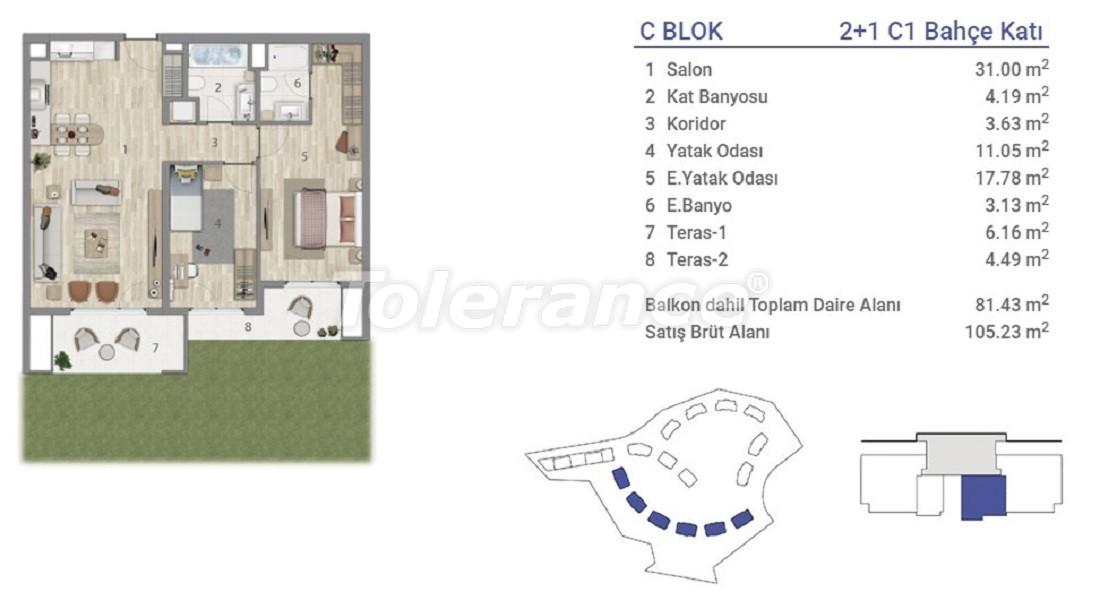 Квартиры в Эюпсултан, Стамбул в проекте с государственной гарантией - 36272 | Tolerance Homes