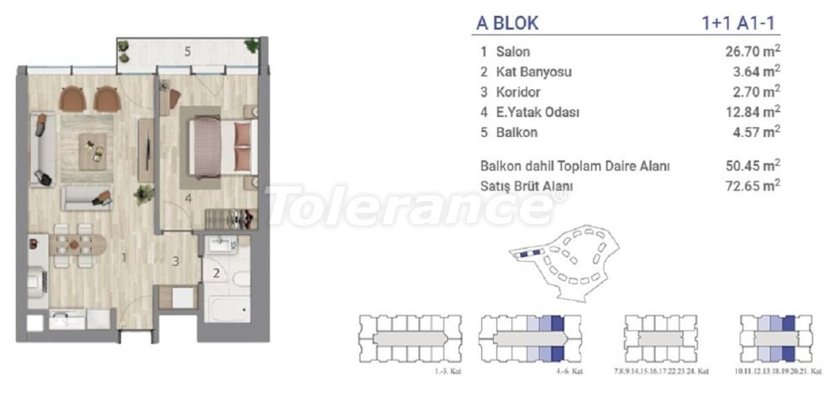 Квартиры в Эюпсултан, Стамбул в проекте с государственной гарантией - 36267 | Tolerance Homes